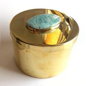 Addison Weeks Avery Brass Turquoise Box